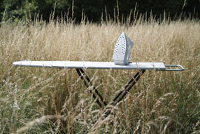 ironing board in nature